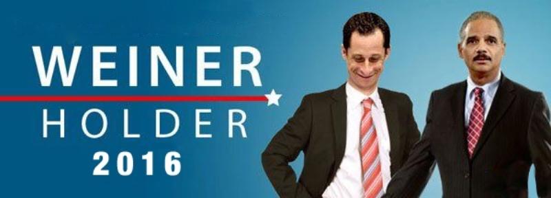 2016 Dem Dream Ticket Weiner Holder
