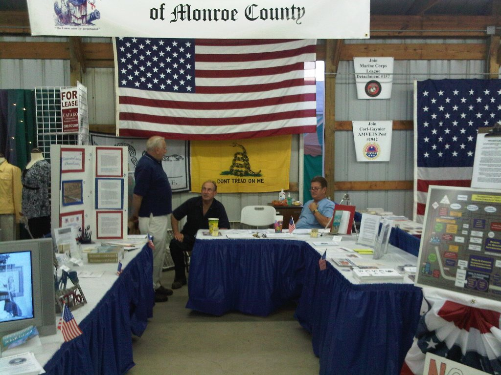 2009 Tea Party Booth Monroe Fair