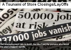 A Tsunami of Store Closings Layoffs