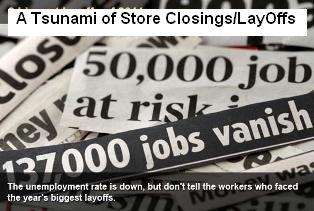 A Tsunami of Store Closings Layoffs