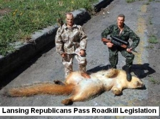 As Lansing Republicans Pass Roadkill Legislation
