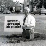 Brooks Patterson in Pothole