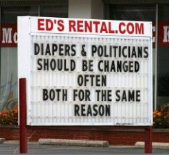 2 Diapers & Politicians