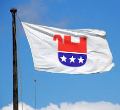 GOP Flag upside down