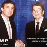 Trump Reagan Party Logos